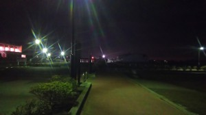 夜の運動公園